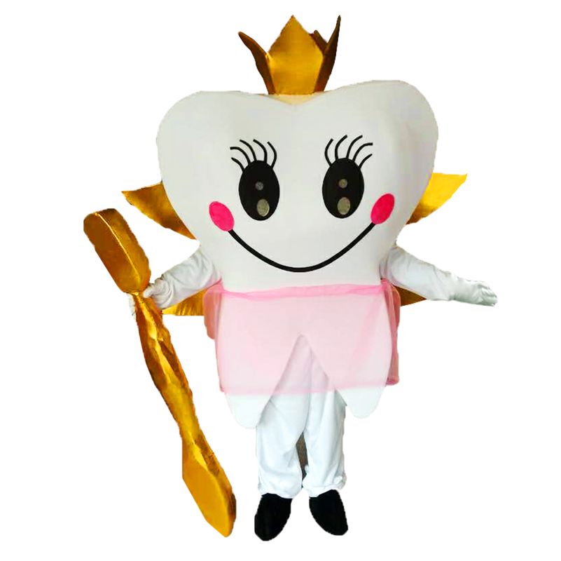 Teeth And Toothbrushes Mascot Costumes Cosplay Real Photo Free Shipping Long Hair Langteng (tm) 2019New image