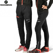 ROCKBROS Cycling Pants Autumn Winte Sport Windproof Breathable Riding Clothing For Men Women Warmth Black Trousers Ciclismo