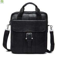 Fashion 100% Genuine Leather bags for men Messenger Bags crossbody Shoulder men travel bag business Men Handbag new Brown Black