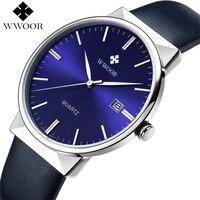 WWOOR Men S Watch Brand Luxury Waterproof Analog Quartz Clock Male Leather Belt Casual Sports Watches