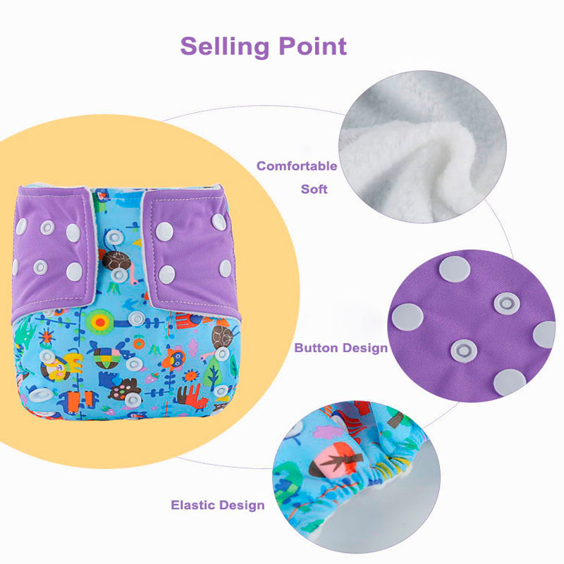 Baby Reusable Nappies Newborn Washable Cloth Diapers For Children Bamboo Reusable Baby Diapers Breathable Potty Training Pants