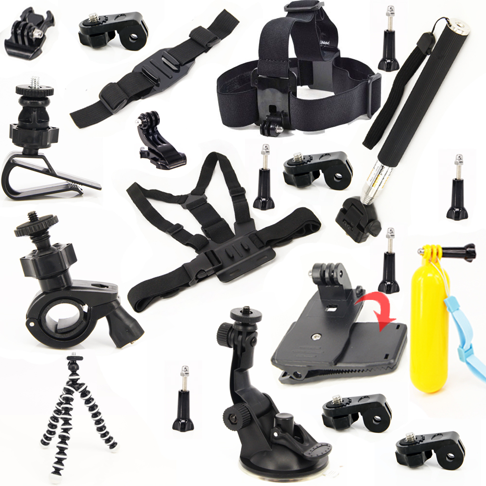 Kit Travel Set Professional Accessories Bundle Kit For Sony Action Cam HDR-AS100V AS15 AS200V AS30V AZ1 fdr-x1000v accessories dz chm1 clip head mount kit for sony action camera fdr x1000v hdrr as200v hdr az1vr hdr as100v