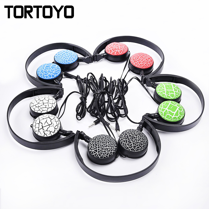 Portable Foldable Crack 3.5mm Wired Phone Headphone Over Ear Earphone with Microphone Headset For Smart Phone PC Laptop Computer