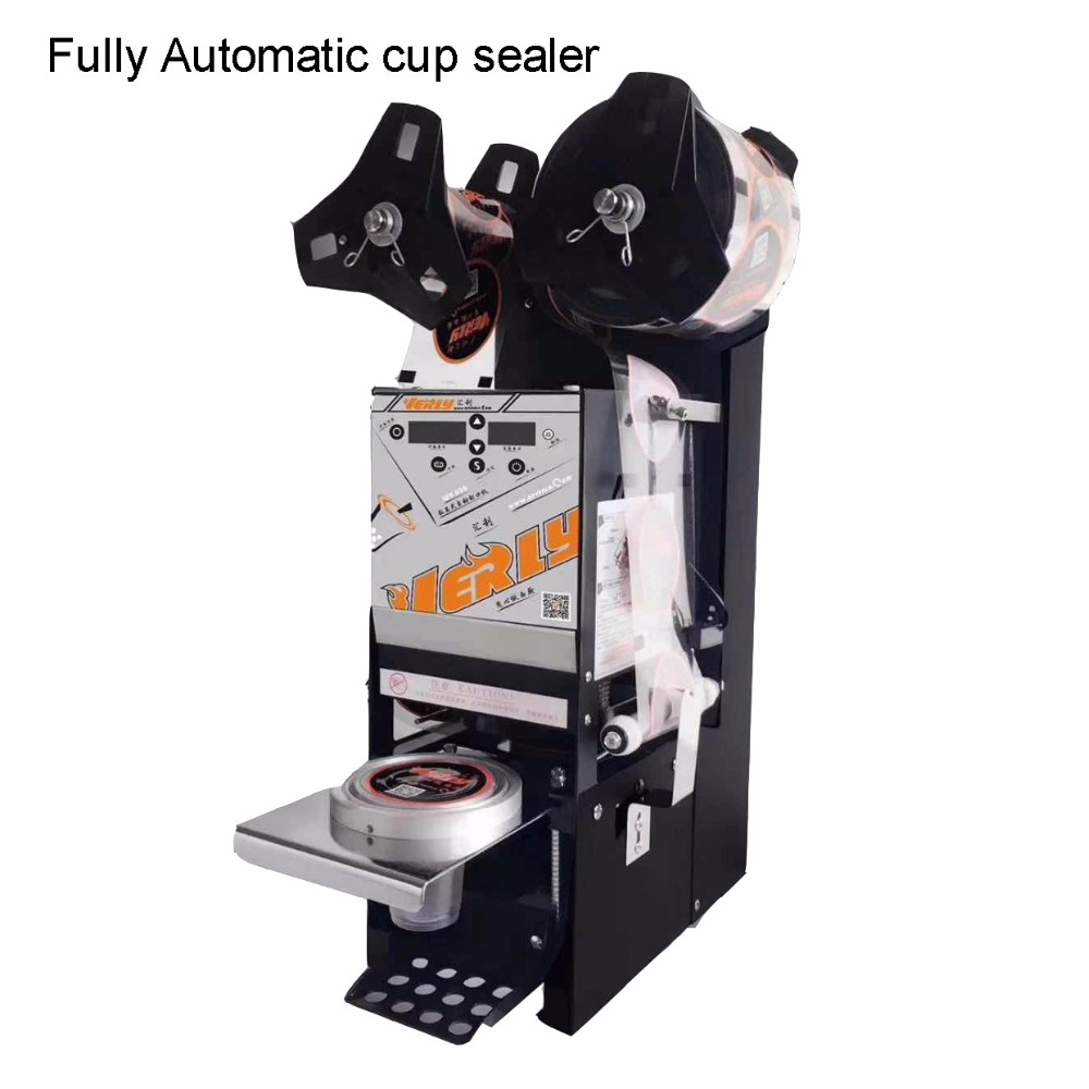 Automatic plastic cup sealing machine , cup sealer