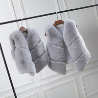 Mommy Girls Baby Mother and Daughter Matching Clothes Autumn Winter Fur Vest Child Fur Coat Vest Family Mother Daughter Outfits