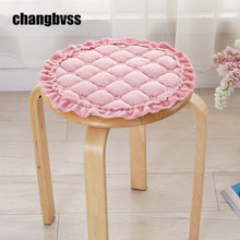 pastoral style round shape kitchen chairs stools cushions home decor flannel office chair cushion anti slip