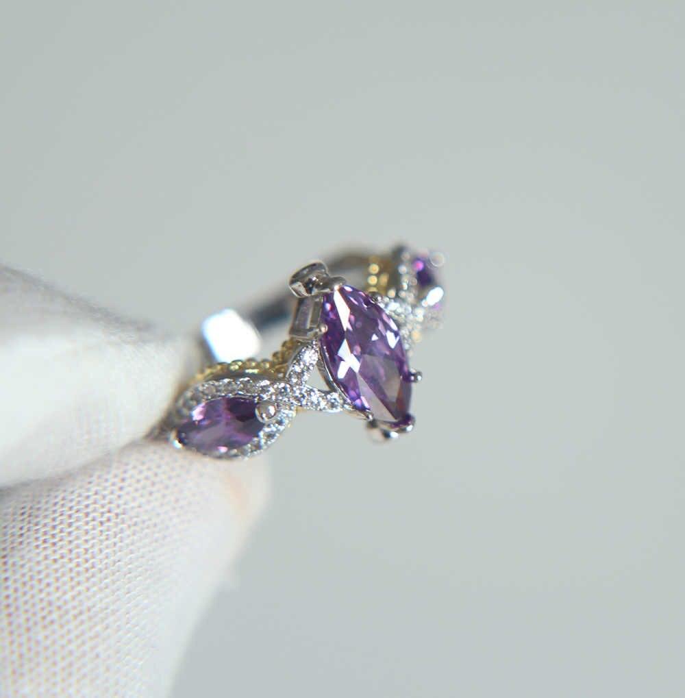 2017 высокое качество Заводская Акция Purple Форма Фиолетовый акцент свадебное обручальное женское кольцо акция