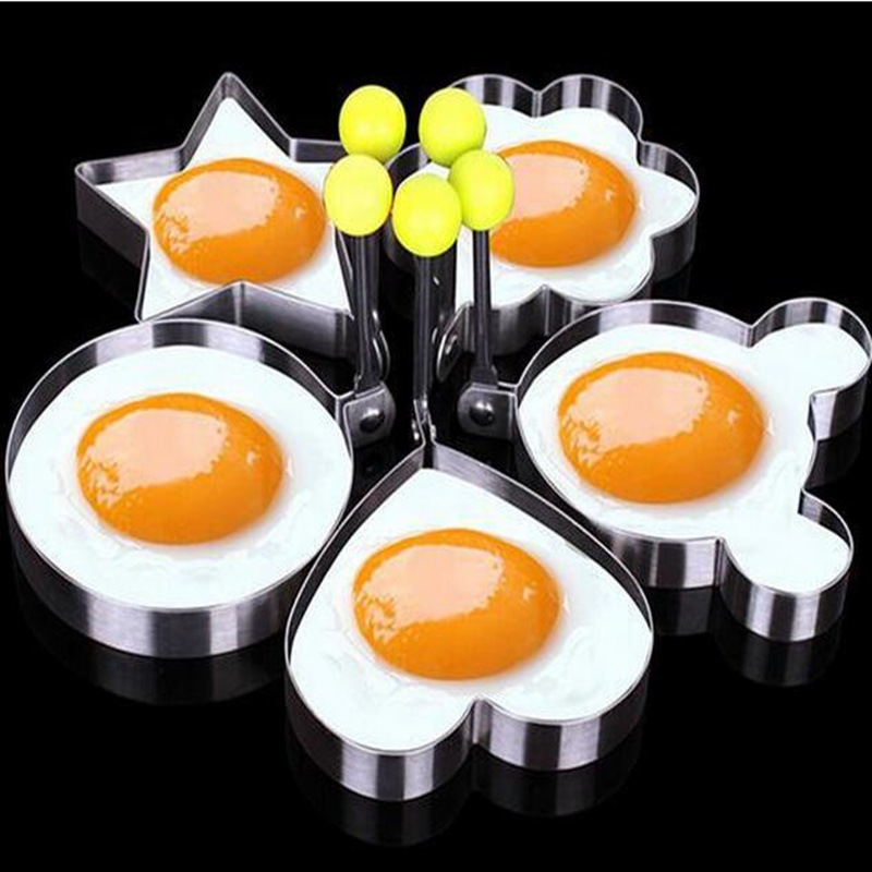 Kitchen thick stainless steel egg fried egg mold poached egg omelet gift 5PCS/SET