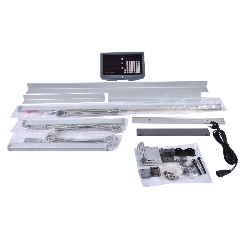 1 set ensemble complet fraisage/tour/perceuse lecture numérique dro avec 3 pièces échelles linéaires