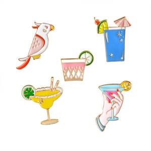 Perroquet Vacances Plage Fête Boissons Citron Cocktail