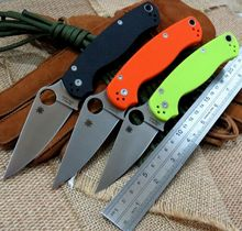 High quality C81 folding knife Copper washers D2 steel blade knife G10 Handle Camping Hunting Survival Knives Outdoor Tool
