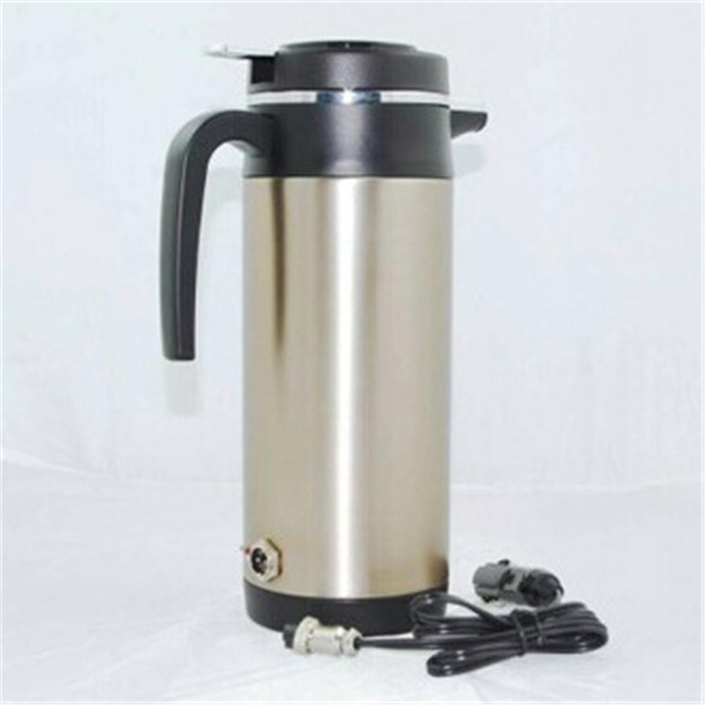 12V <font><b>4V</b></font> 1200ML Car Electric Heated Kettle Steel Bottle Heating Cup Boiling Water Car Heating Cup Hot Water Warmer Travel Tea Cup image