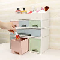 DIY Combinable Storage Box Creative Multifunction Plastic Cosmetic Jewelry Desktop Drawer Sundry Sorting Space Saving Organizer