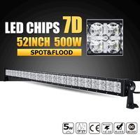 Oslamp 52inch 500W 7D LED Light Bar Combo Led Work Light 12v 24v Offroad Led Bar for Jeep Truck SUV 4WD 4x4 Pickup Driving Lamp