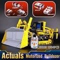 Nueva LEPIN 20008 1384 Unids Technic Serie Motorizado Bulldozer Modelo Kit de Construcción de Juguetes de Bloques de Ladrillos Compatible Con 8075