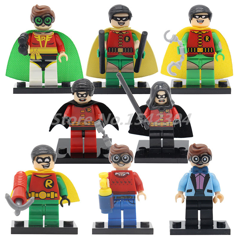 Robin Comics Super Heroes Batman Building Block Single Sale Bricks Toys For Children Marvel DC Movie Kids Gifts сковорода rondell geste 20см б кр алюминий антиприг пок е
