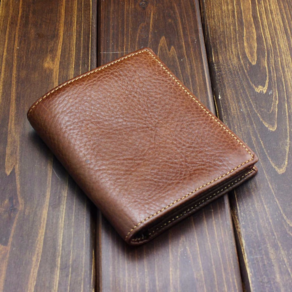 Baellerry Famous Brand Genuine Leather Men Wallets Handmade Men's Wallet Male Money Purses with card holder and zipper purse banlosen brand men wallets double zipper vintage genuine leather clutch wallets male purses large capacity men s wallet