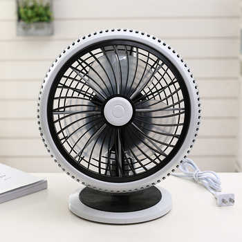 220V Desktop Household Electric Fan Portable Good Quality Quiet Desk Stand Mini Portable Strong Wind Fan With 3m Line EU/AU/UK - DISCOUNT ITEM  9% OFF All Category