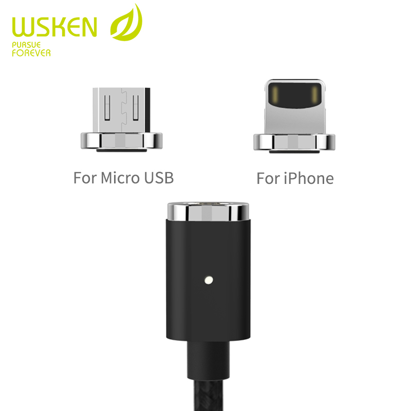 Original WSKEN magnetic cable for iphone and font b android b font Creativity magnetic charger for