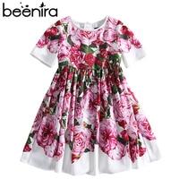 Beenira Children Clothes 2017 New Summer Style Kids Short-Sleeve Fashion Flower Princess Dresses Design For Girls Clothing Derss
