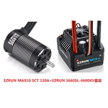Hobbywing Kit de moteur sans capteur EZRUN, MAX10 SCT 120A ESC + 3660 G2 4600KV / 4000KV/3200KV, pour camion 1/10 RC