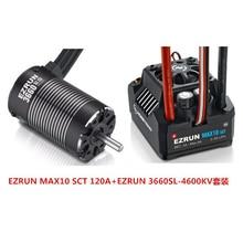 Hobbywing ezrun max10 sct 120a, kit de motor sem escova esc + 3660 g2 4600kv/4000kv/3200kv, sem escova, para 1/10 caminhão do carro do rc