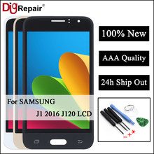 For Samsung Galaxy J1 2016 Display J120 J120F J120M J120H LCD Digitizer Touch Screen Assembly J120f lcd For Samsung J1 2016 LCD(China)