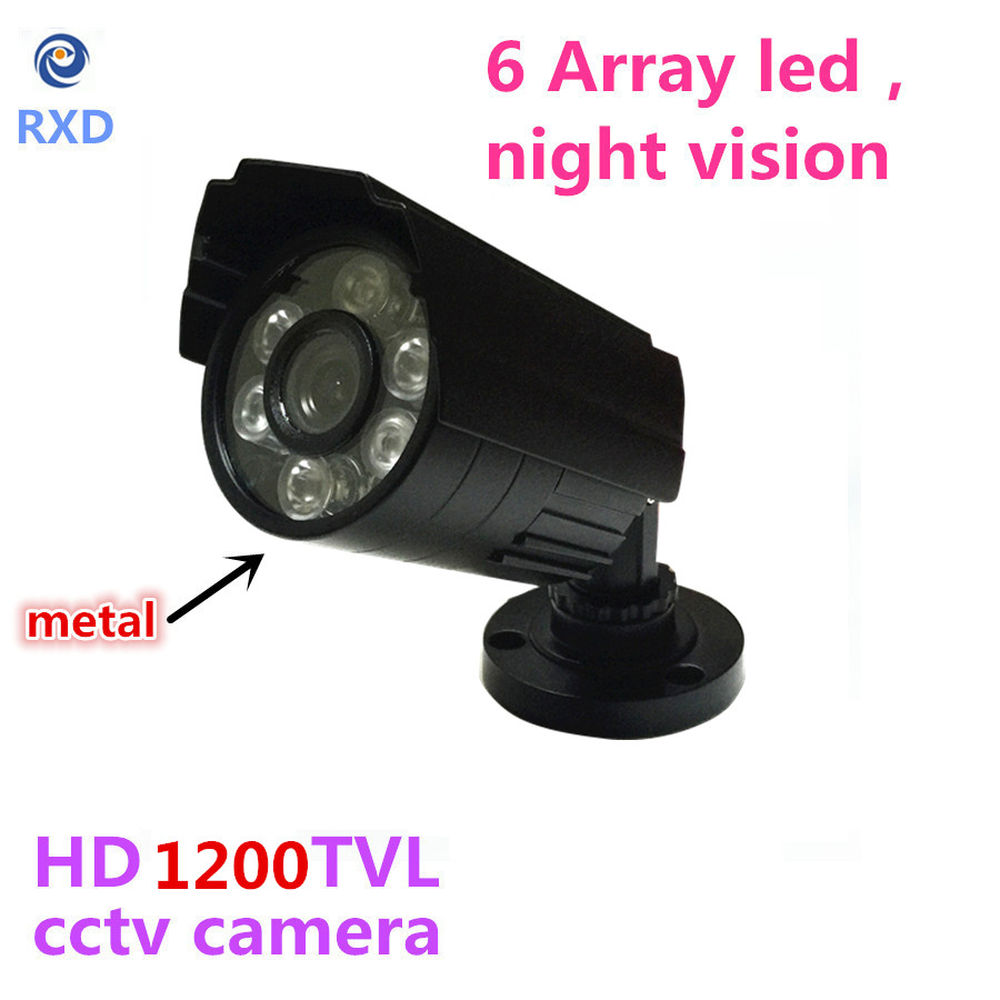 1200TVL CCTV Camera  HD Outdoor Bullet Waterproof IR-CUT 6 Leds Mini infrared Surveillance Security Camera 2015 newest cheapest freeshipping 6 array leds cctv camera cmos 700tvl plastic bullet hd mini monitoring security camera