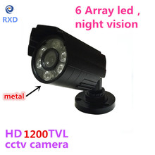 1200TVL CCTV Camera  HD Outdoor Bullet Waterproof IR-CUT 6 Leds Mini infrared Surveillance Security Camera