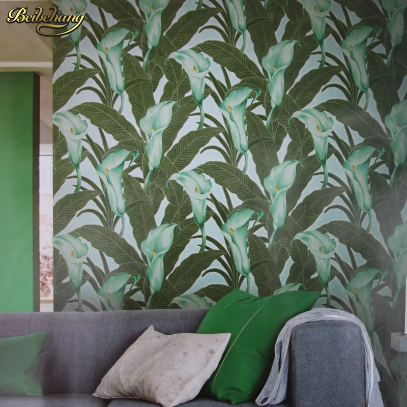 beibehang Southeast Pastoral flowers Suede papel de parede wallpaper roll pvc vinyl wallcovering background wall papers home beibehang papel de parede southeast