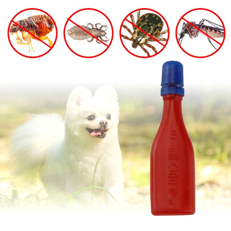 2.5ml Pet Insecticide Flea Lice Insect Killer Spray Mites Tices Drop For Dog Cat Puppies Kitten Treatment Pest Control Repellent