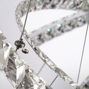 Image 5 - Modern LED kristal Avize Işıkları Lamba Oturma Odası Cristal Cilası Avizeler Aydınlatma Kolye tavanda asılı Için Fikstür