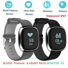 Smart Band P2 крови Давление монитор сердечного ритма Смарт Браслет Шагомер сна фитнес-трекер для Android iOS смартфонов