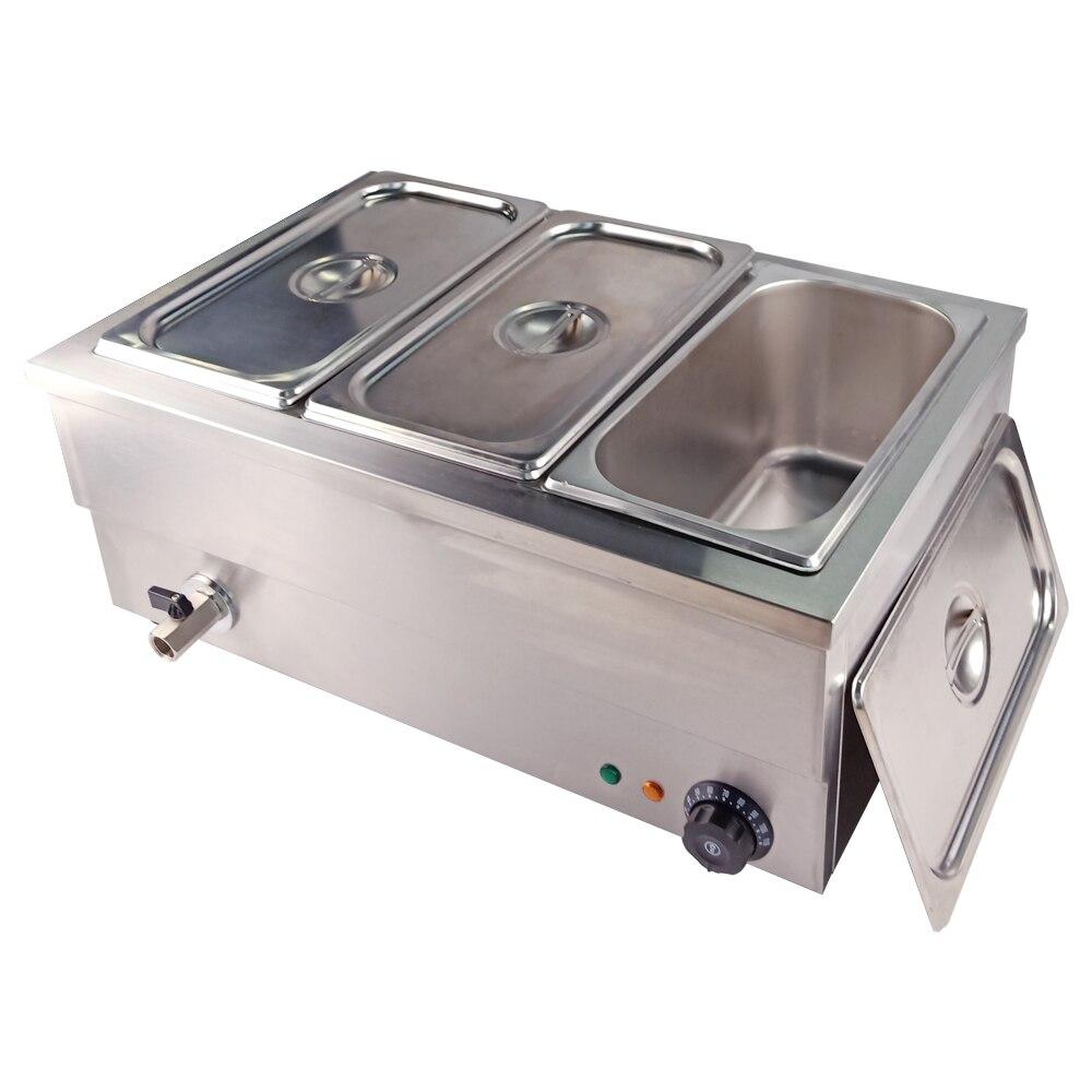 Нержавеющая сталь еда Bain Marie коммерческий шведский стол изоляции глубокий суп плита еда теплее машина для кухня прибор