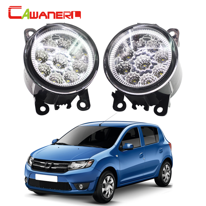 Cawanerl Car Styling Replacement Fog Light DRL Daytime Running Light LED Bulb 12V For Dacia Duster Logan Sandero Solenza free shipping 2pcs lot car styling lamp 7443 80w daytime running light with daytime running light for dacia duster hs 2010
