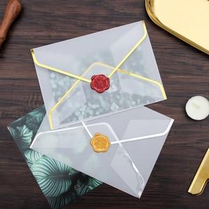 Image 1 - 20 pçs/set Transparente Envelope De Papel Hot Stamping Impressão Engrossar Envelope Envelope De Papel para Convite de Aniversário Scrapbooking