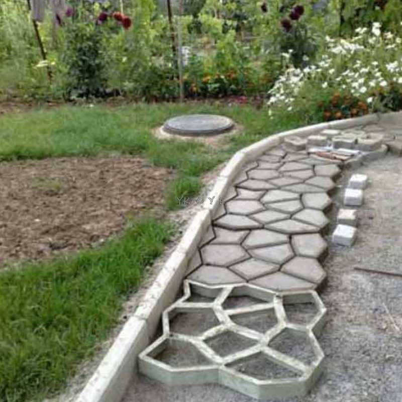 diy plastic path maker mold manually paving cement brick molds patio concrete slabs path garden ornaments