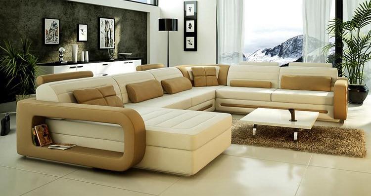 2015 Lastest Design U Shape Leather Sofa/living Room Sofa/sofa Furniture