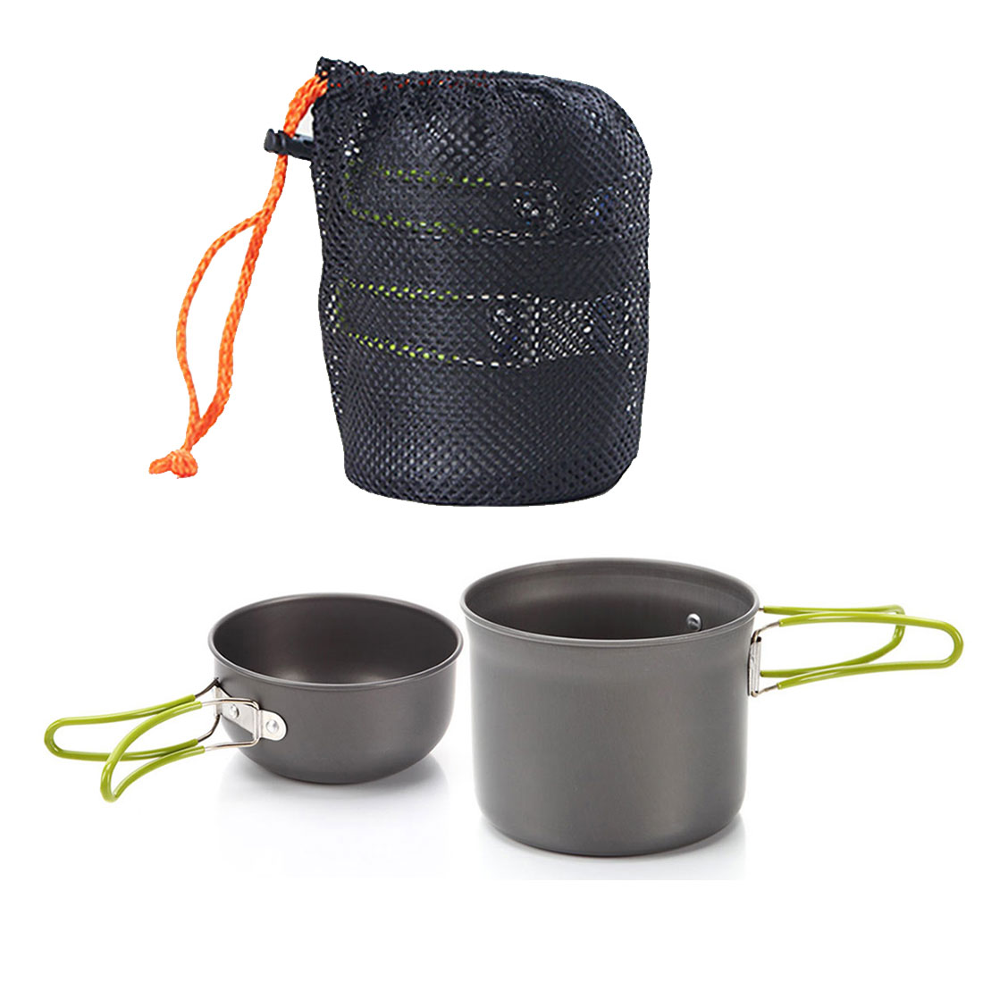 e4cb12bfbba Top Sale non stick Cookware Outdoor Aluminum Pots Pans Bowls with foldable  handle Camping cookware set Hiking Picnic Cooking Set on Aliexpress.com