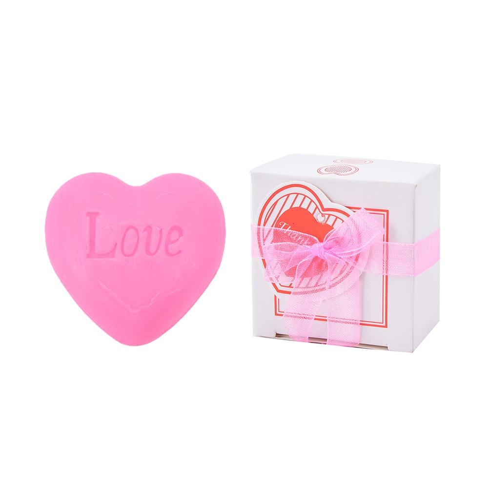 Heart-shaped Bath Soap Aromatic Fragrance Wedding Party Design Love Handmade Valentine Decontamination Gift