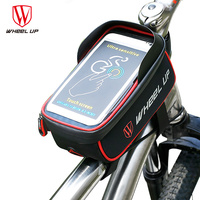 MTB Mountain Front Bike Bag Bicycle Rainproof Touch Screen Phone Bags Red Black Cycling For 6