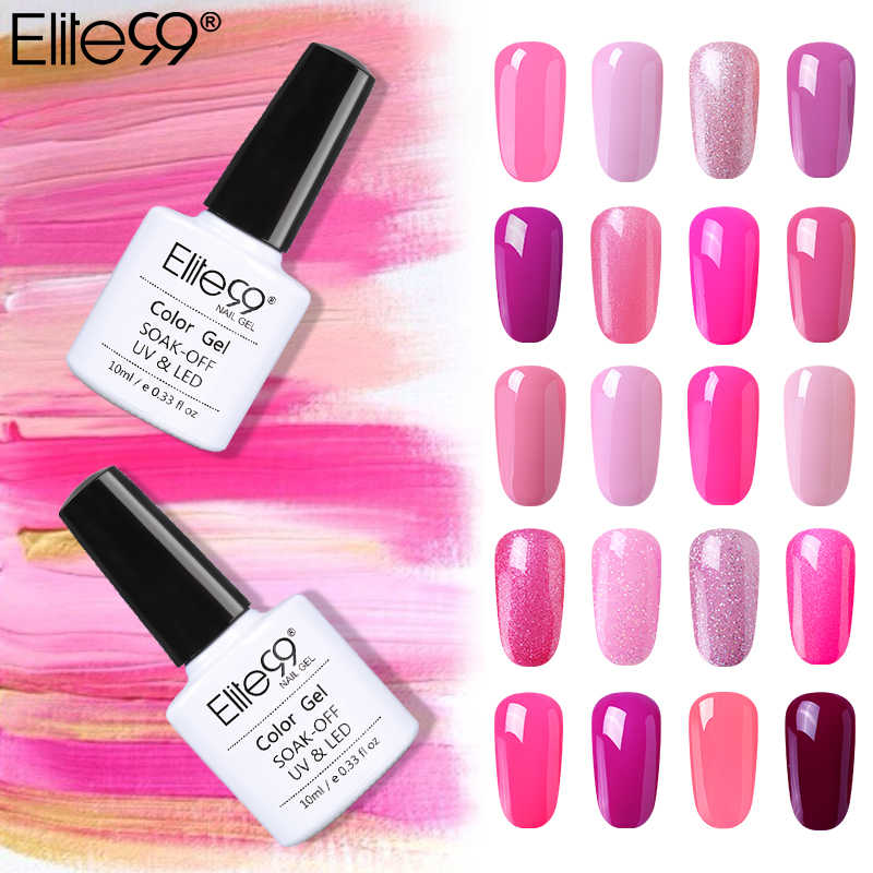 Elite99 Gel barniz Soak Off Gel LED UV Nail Polish Base Coat 10ML Rosa naranja LED lámpara uñas UV curado Gel polaco laca de Gel