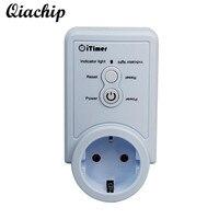 QIACHIP AC 90 240V EU Plug Smart Home WiFi Power Wireless App Timer Control Socket Temperature