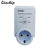 QIACHIP AC 90 240V EU Plug Smart Home WiFi Power Wireless App Timer Control Socket Temperature