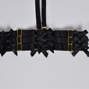 Image 4 - Jarretière avec ceinture à nœud pour femmes, harnais gothique Harajuku, tenue de mariage, pour mariage