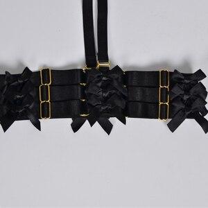 Image 4 - ผู้หญิงสีดำ garter เข็มขัด Bow garter Harajuku Gothic body harness งานแต่งงาน garters เจ้าสาว bondage สายรัด garters