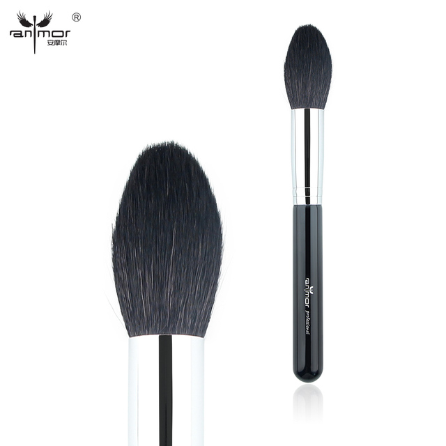 Anmor Pure Goat Hair Highlighter Brush Tapered Face Brushes Top