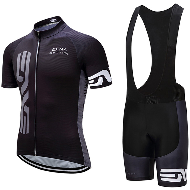 Men's Black Cycling Team Quick Dry Pro Jersey Set