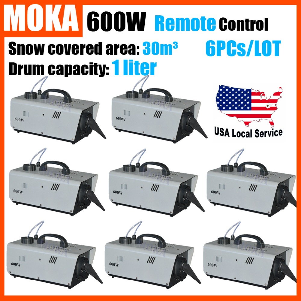8pcs/lot 600W Snow Machine Remote Control Cable Control DJ Performance Snowflake Maker Special Stage DJ Effect mini 600w snow machine pro snow snowflake snow maker machine stage dj party show