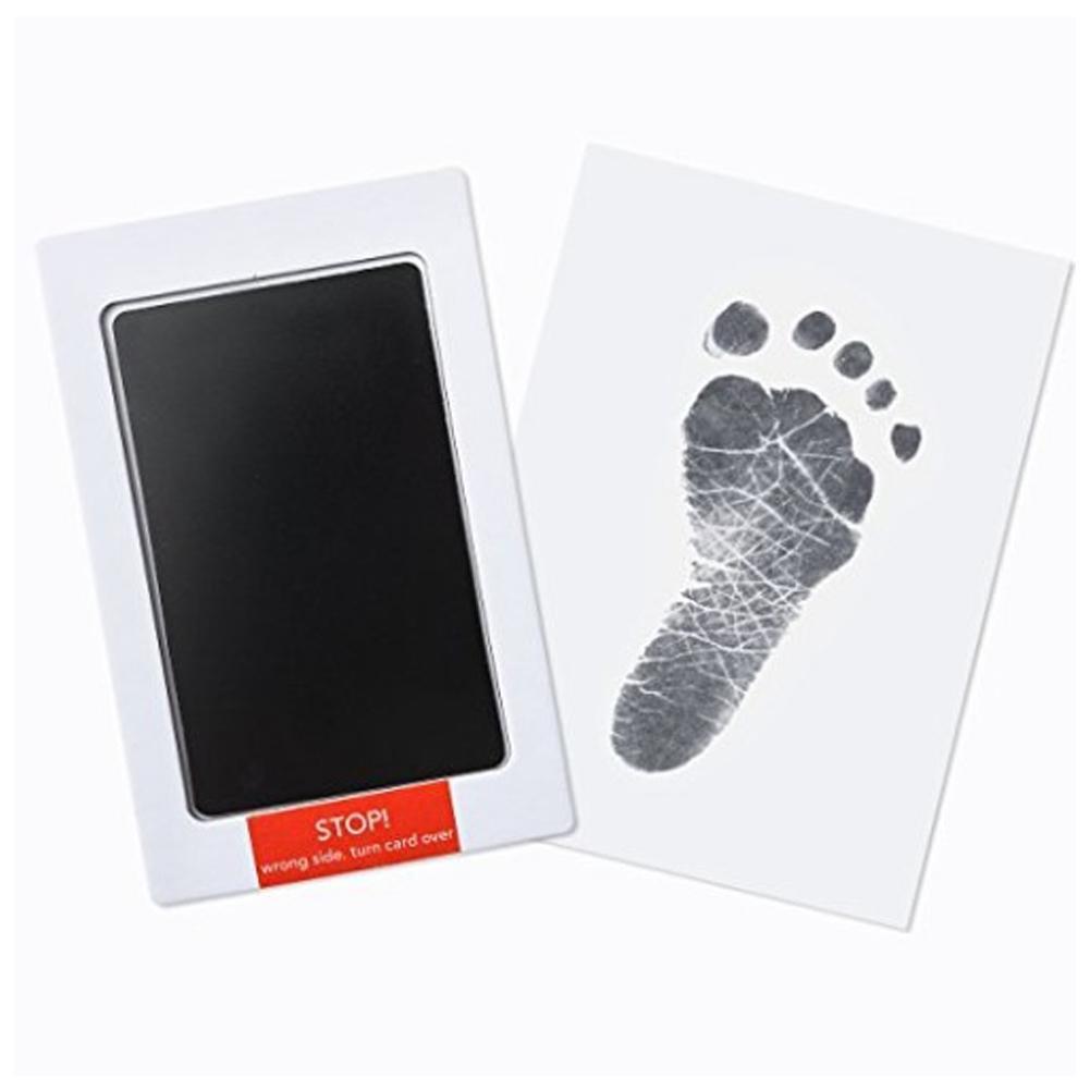 1pcs Baby Care Non-Toxic Baby Handprint Footprint Imprint Kit Baby Souvenirs Casting Newborn Footprint Ink Pad Infant Clay Toy